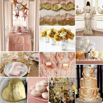 ピンクにゴールドを組み合わせると、高級感がアップします!