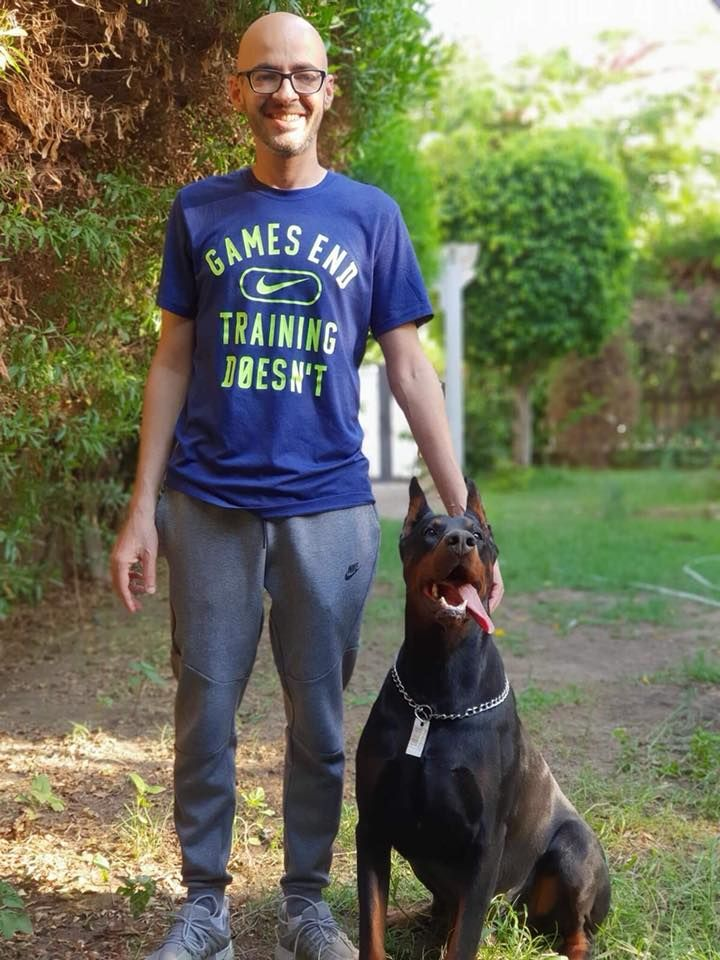 Doberman Maxim And Him Owner In Egypt Pdw Family