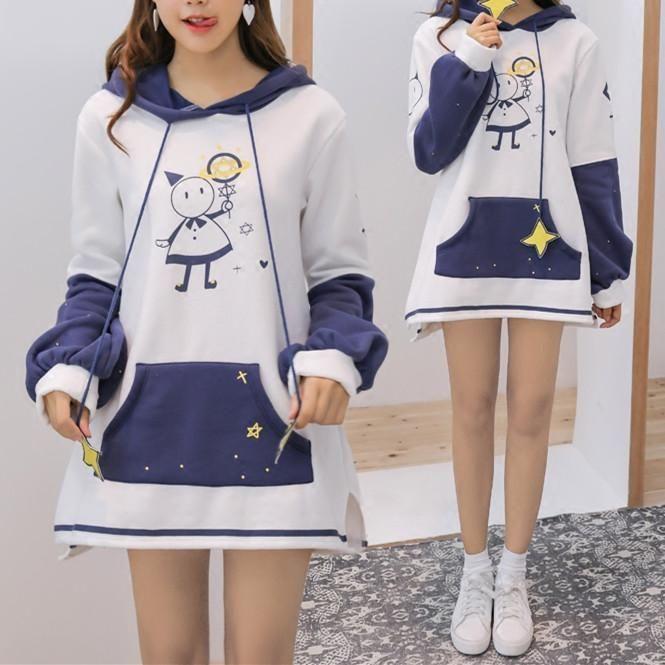 Starry Night Magical Girl Hoodie Dress SP1711275                      – Spreepicky EU