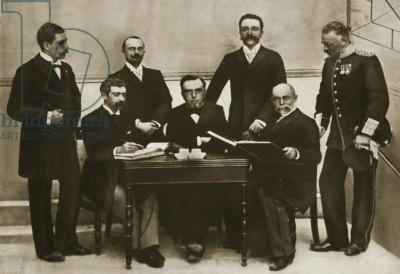 The first meeting of the Organising Committee (IOC) for the first Olympic Games, Athens, 1896.