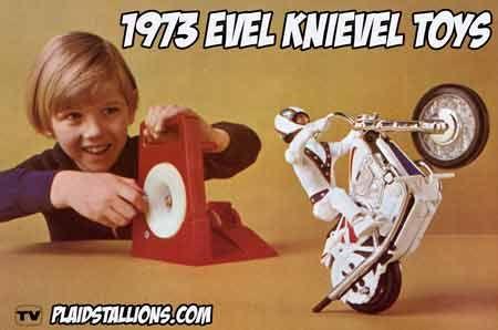Evel Knievel wheelie bike