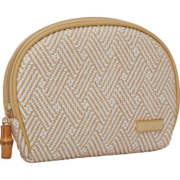 Stephanie Johnson Hamptons Fiona Dome Cosmetic Bag Case ($35) ❤ liked on Polyvore featuring beauty products, beauty accessories, bags & cases, white, wash bag, travel kit, makeup bag case, make up bag and dop kit