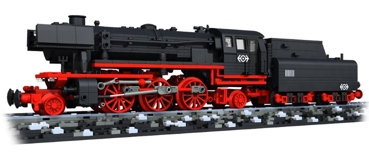 BR23 German Steam Engine by Reinhard Beneke using Big Ben Bricks train wheels