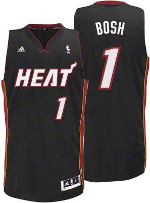 Miami Heat Chris Bosh 1 Black Authentic NBA Jersey Sale