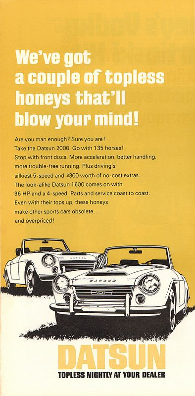 1969 Datsun 2000 and 1600 Advertisement Playboy April 1969   by SenseiAlan