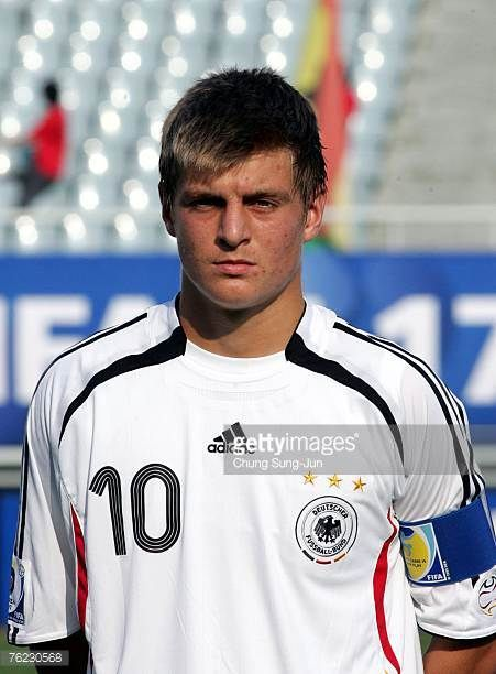 Toni Kroos of Germany poses before the FIFA U17 World Cup group F match between Germany and Ghana at the Cheonan Sports Complex on August 23 2007 in...