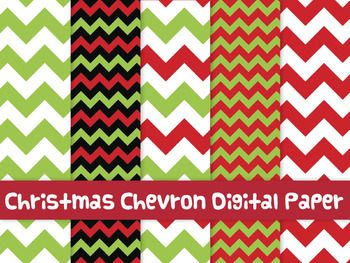 FREE Christmas chevron digital papers This is a set with 10 Christmas chevron backgrounds for your TPT creations. Enjoy using them on your newest products.