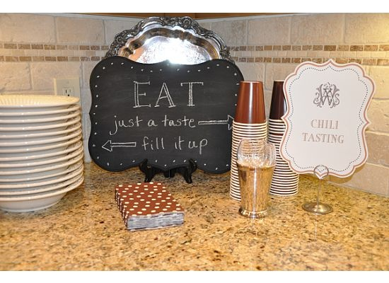 chili and beer tasting party - lots of cute ideas!