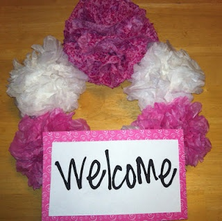 Little Treasures: Monday Made It 4 ~ Welcome Wreath: Welcome Wreath
