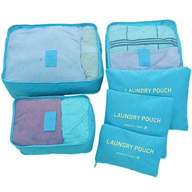 6PCS+Travel+Bag+Luggage+Organizer+/+Packing+Organizer+Waterproof+Dust+Proof+Foldable+Durable+Travel+Storage+Ultra+Light(UL)+for+Unisex+–+AUD+$+20.43