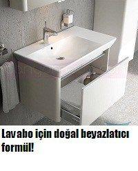 Lavabo için doğal beyazlatıcı formül