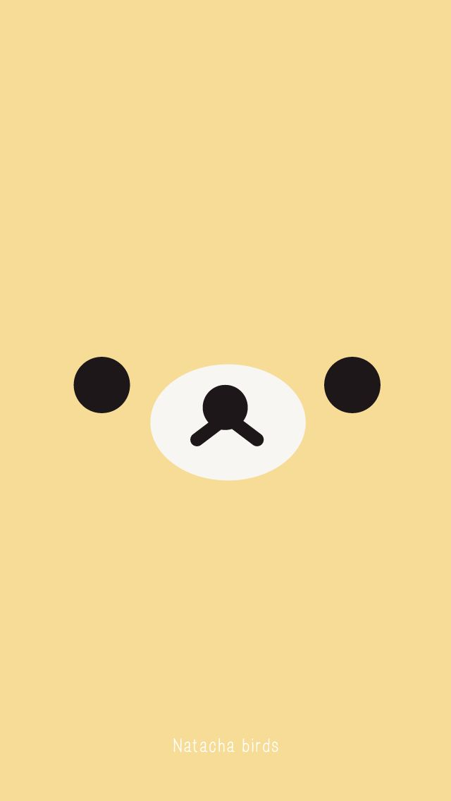 Yellow bear face iphone wallpaper phone background lockscreen