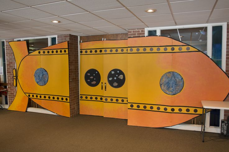 Fun submarine decorating idea for Ocean Commotion VBS 2016