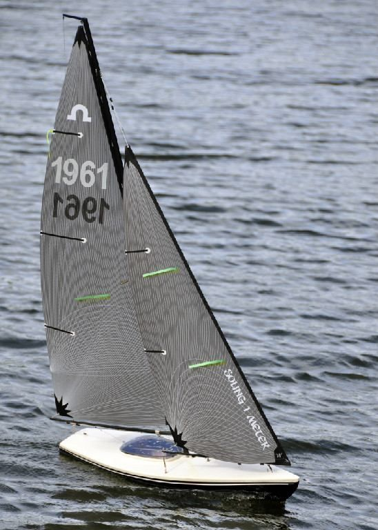 Soling One Meter RC Sailboat | Hobbies and Interests in 2019 | Model sailing ships, Laser ...