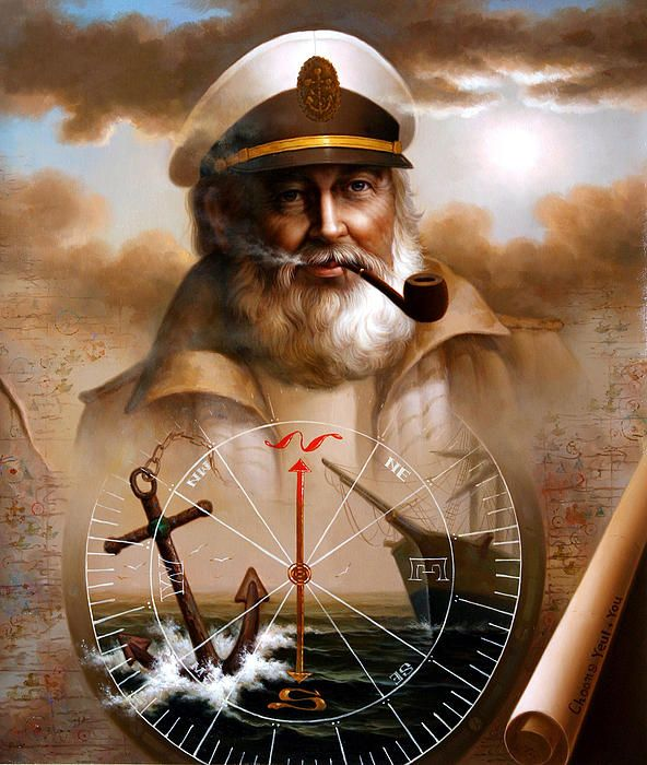 "Windjammer:  #Windjammer ~ ""Sea Captain,"" by Yoo Choong Yeul."