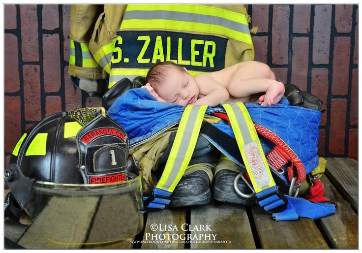 Newborn Photography ~ Firefighter @Katrina Alvarez Johnson minus the back drop