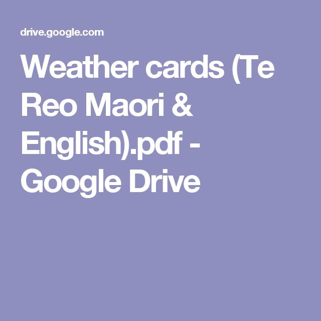 Weather cards (Te Reo Maori & English).pdf - Google Drive
