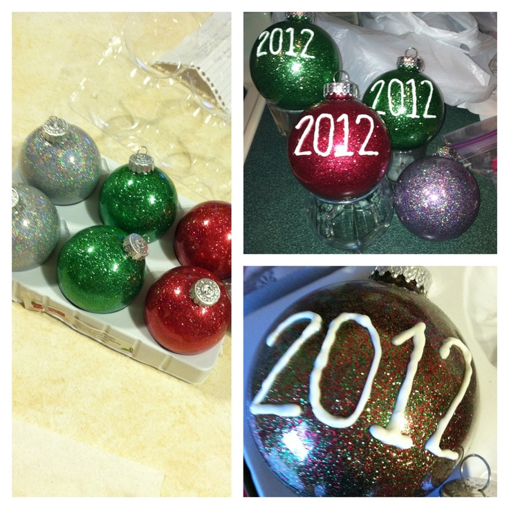 15 Best Images About Glitter Ornaments On Pinterest