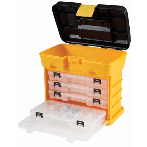 Toolbox Organizer with 4 Drawers $13 - for jewelry?