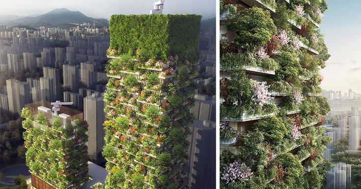 First Vertical Forest In Asia To Have Over 3,000 Plants And Turns CO2 Into 132 Pounds Of Oxygen Per Day | Bored Panda