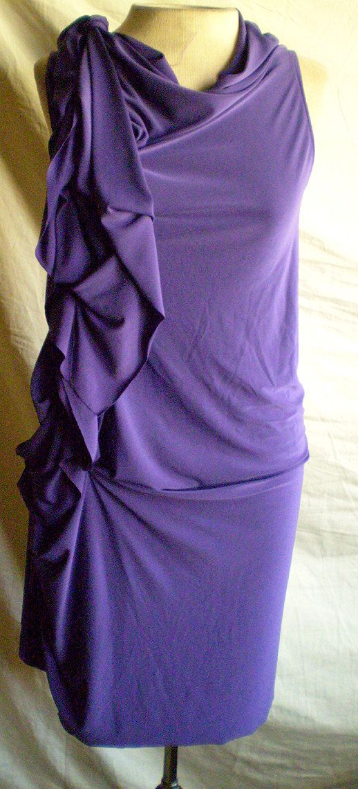 Purple Drape Dress with side drape by Cheryldine on Etsy, $105.00