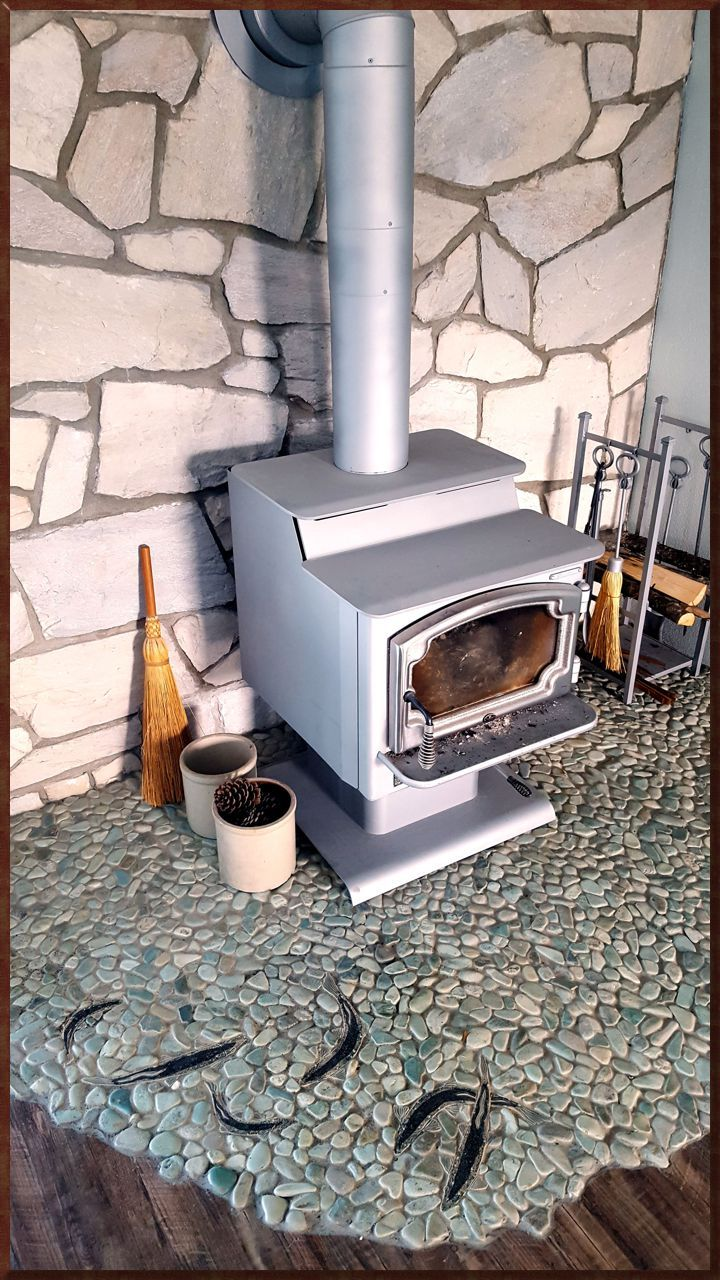 44 best call images on pinterest king salmon ceramic tiles around wood stove doublecrazyfo Gallery