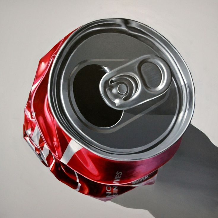 ARTFINDER: crushed coke can by Peter Slade - The iconic crushed coke can! Coca-Cola reputedly the most famous brand in the world.  World famous brands in some ways have become the Icon's of our time. H...