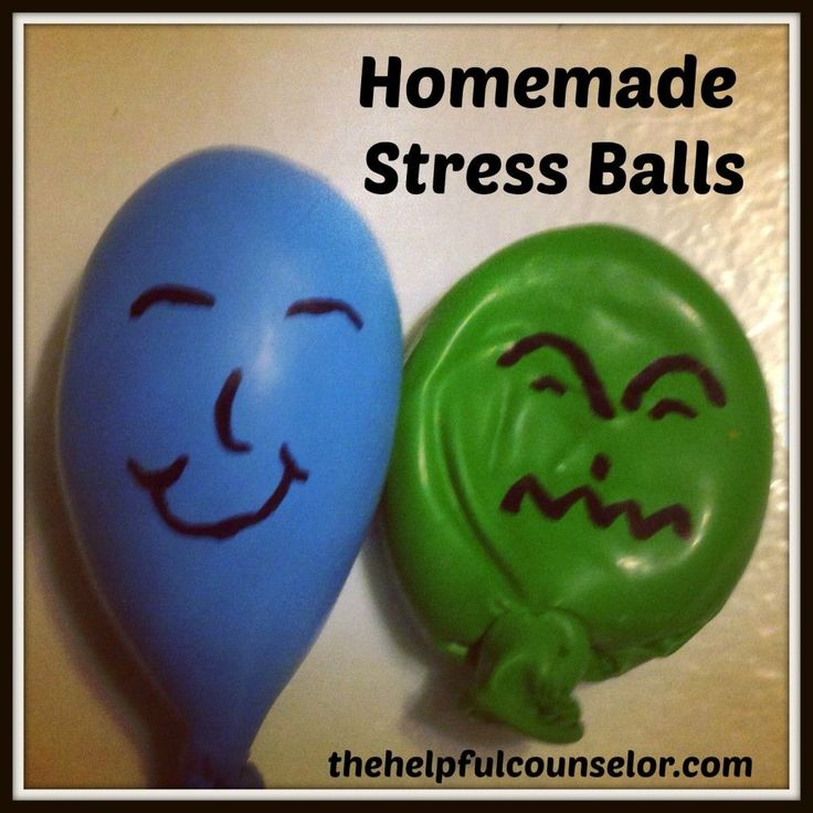 Homemade stress ball - use playdough. litle mess and great way to help kids advocate for their own way to cope.