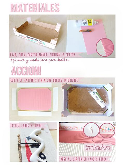 Caja de fresas reciclada by DIY & accessories (Dianthusa)