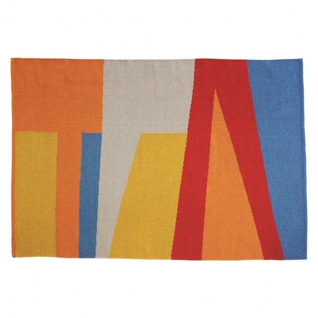 SIERRA Medium multi-coloured flat weave rug 140 x 200cm