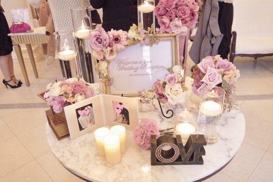 アンティークピンクに彩られた、ロマンティックなウェルカムボード : 結婚式ウェルカムホード 自作アイデア集【アンティーク・ガーリー・花】 - NAVER まとめ