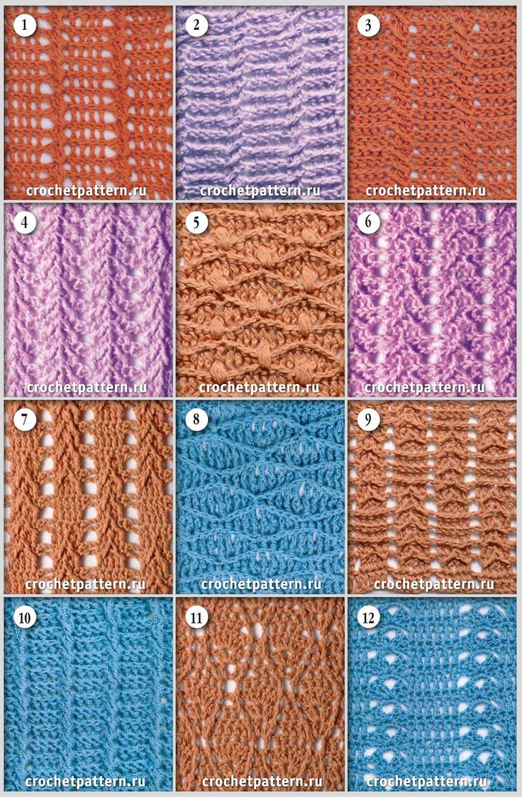Página №66.  Padrões e padrões para crochet.