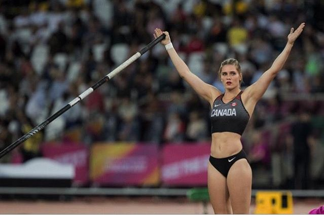 Alysha Newman, Canadian record holder in pole vault
