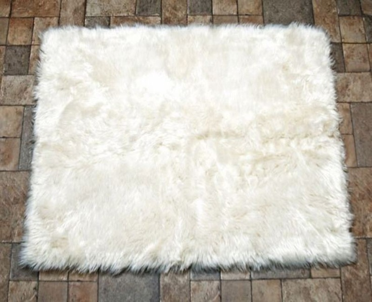 hollywood love rugs faux fur area rug white http