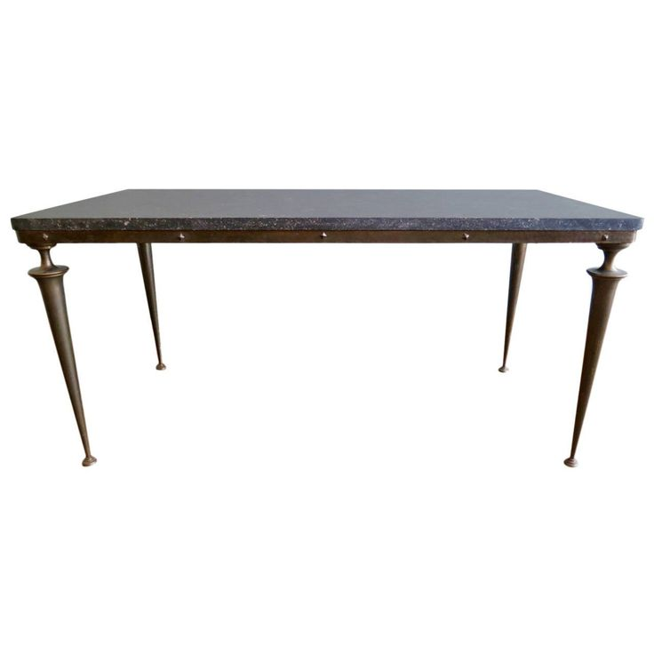 marble cocktail table and bronze | Italian 1950s Bronze and Marble Cocktail Table For Sale at 1stdibs