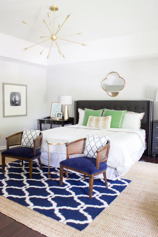 Master Bedroom Makeover Reveal One Room Challenge With Rugs USAs Maui Chunky Loop Jute And Homespun Hawa Moroccan Trellis Rug