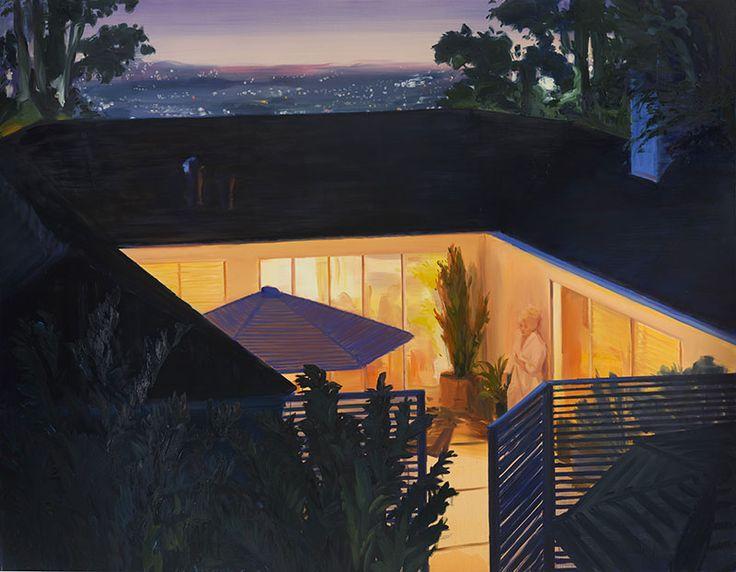 Caroline Walker, Night Scenes, 2017, olio su tela, 210x270