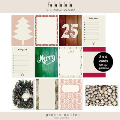 bina greene Project Life Freebies for Christmas & 2016 | [ One Velvet Morning ]