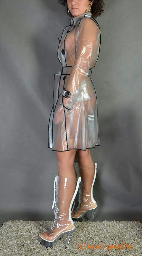 See Thru Raincoat Drone Fest, See Through Plastic Trench Coat