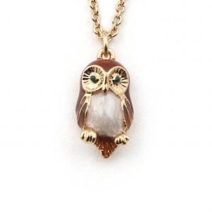 Owl Mini Pendant - Brown