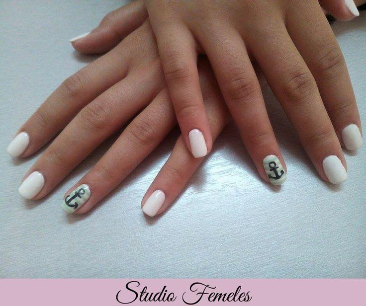 Βίρα τις άγκυρες! #nailart #nails #nailswag #nailsalon #skg #thessaloniki #beautysalon #beauty #naildesign #nailpolish #manicure #nails_greece #greece #august #summer #summertime #studio_femeles #arisotelous_square #aristotelous #nailporn  #nailsoftheday #shellac