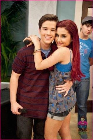 Ariana Grande and Nathan Kress  A.K.A Freddie Benson and Cat Valentine !!