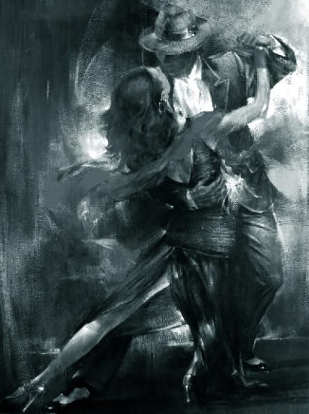 Olieverf schilderij Salsa - Kunst voor in huis