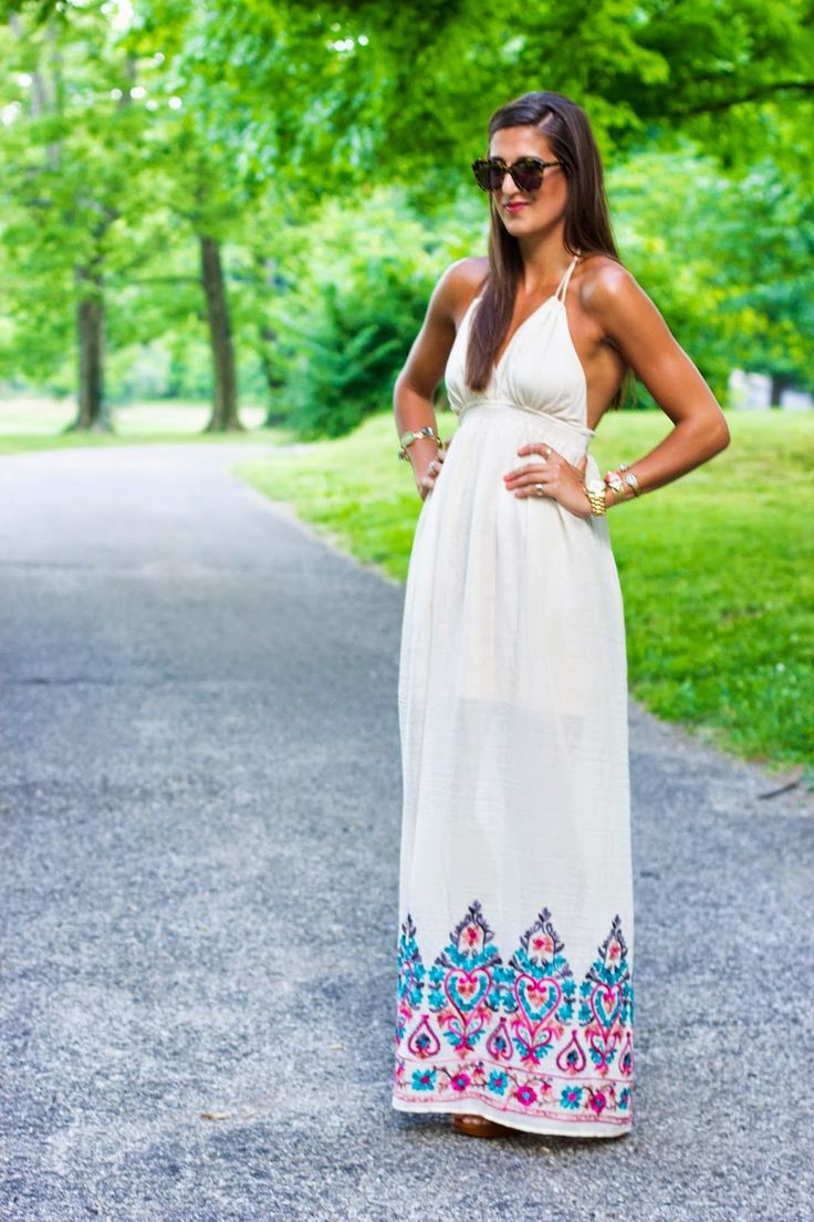 A Southern Drawl: Embroidered Maxi