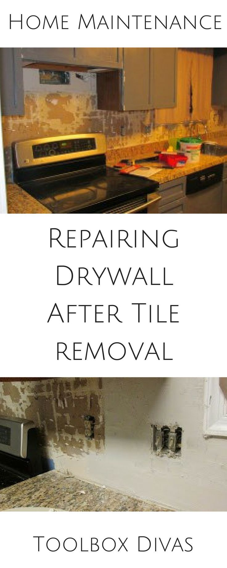 repair drywall after removing tile