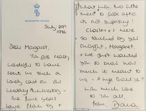 34 Best LettersNotes Amp Cards Written By Diana Images On Pinterest Lady Diana Royal House