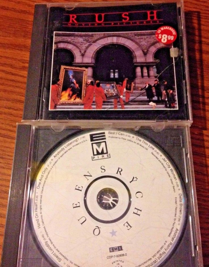 2 80s Progressive Rock Classic CD's Rush Moving Pictures & Queensryche Empire #ExperimentalRockHardRockProgressiveArtRockRocknRoll