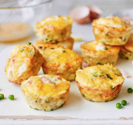 These healthy snacks are perfect for packing up for kids to enjoy outdoors, loaded with fusilli pasta, peas, thick-cut ham and fresh eggs.