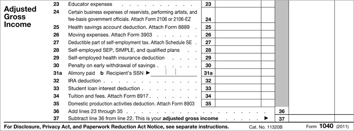 TAXES: What's My Adjusted Gross Income? (or, How to Fill Out Your 1040)