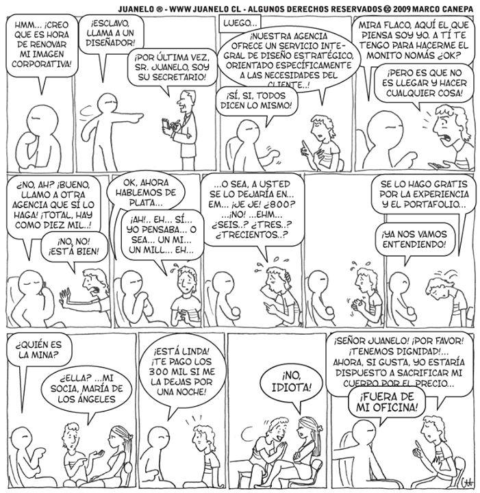 Un #comic muy bueno gracias a Juanelo!. Espero que les haga reir un poco!. Una razon más por buscar un trabajo #Freelance!! saludos a todos!   Recuerda visitarnos en  http://herefreelancer.com/ y crece con nosotros